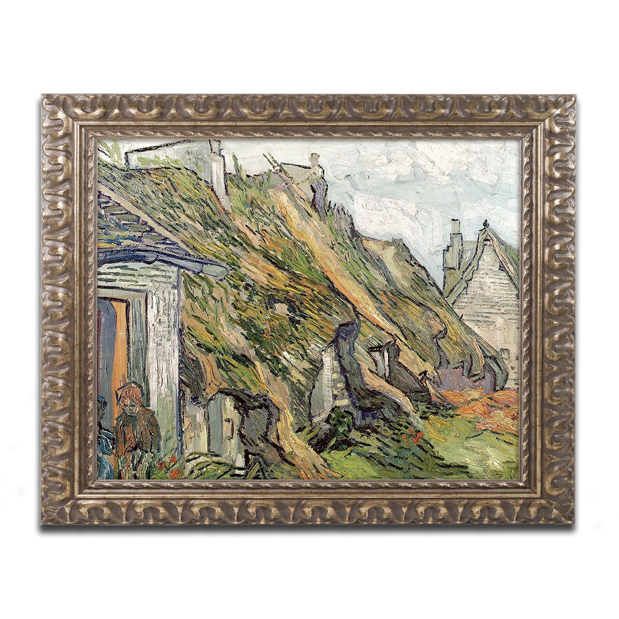 Cottages in Chaponval by Vincent van Gogh Framed Painting Print