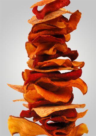 Crispy Crunchy Veggie Chipsgutes Rezept, aber die Werbung