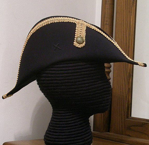 61f2c2f84be Bicorne with Gold Trim - American Cocked Hat - War of 1812 ...