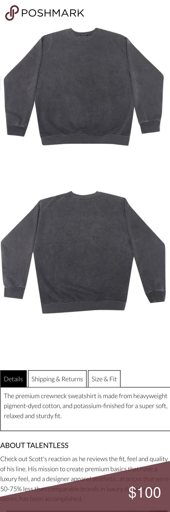 Nwt Talentless Men S Gray Crewneck Sweatshirt Grey Crewneck Crew Neck Sweatshirt Sweatshirts [ 1740 x 580 Pixel ]