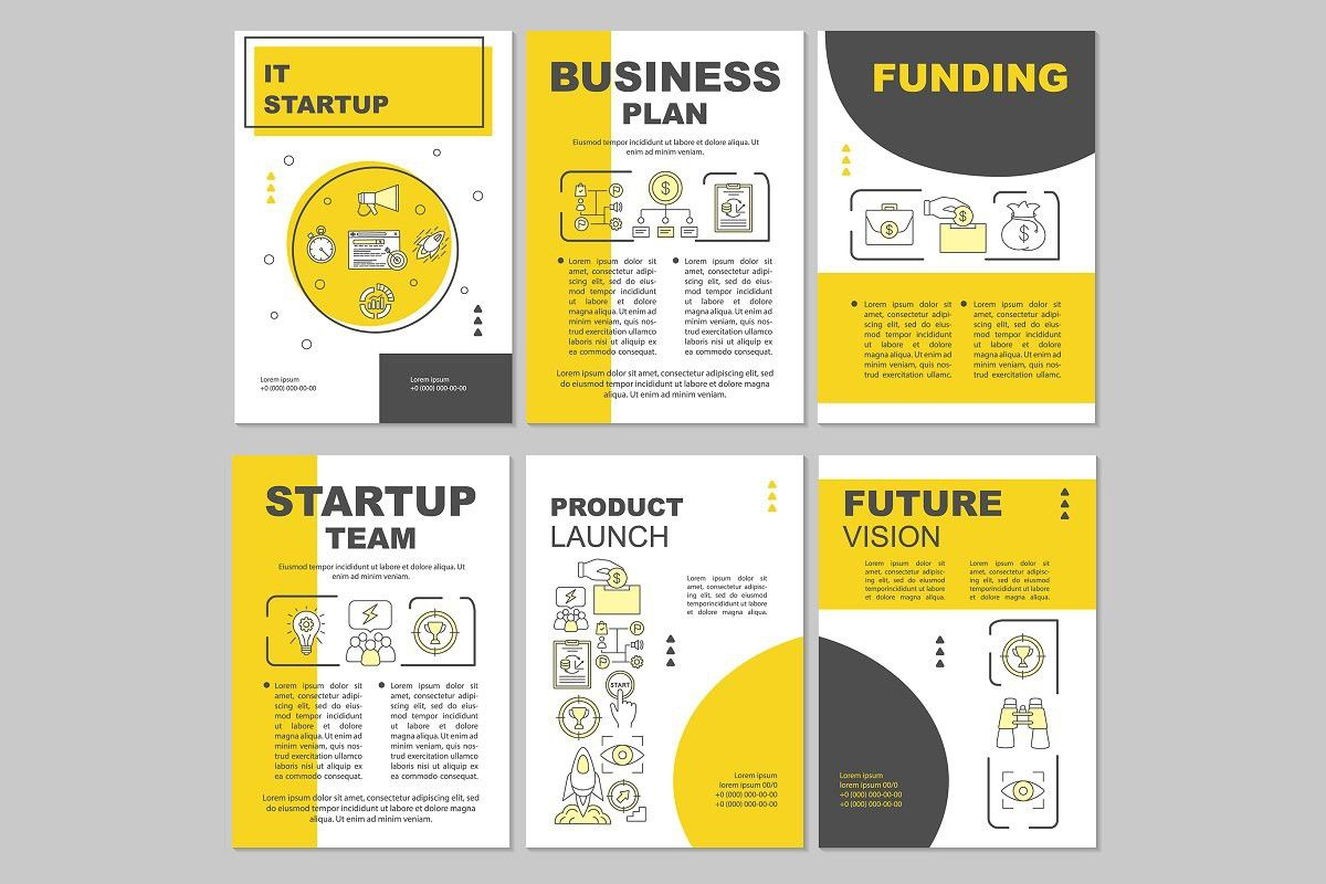 It Startup Brochure Template Layout In With Images