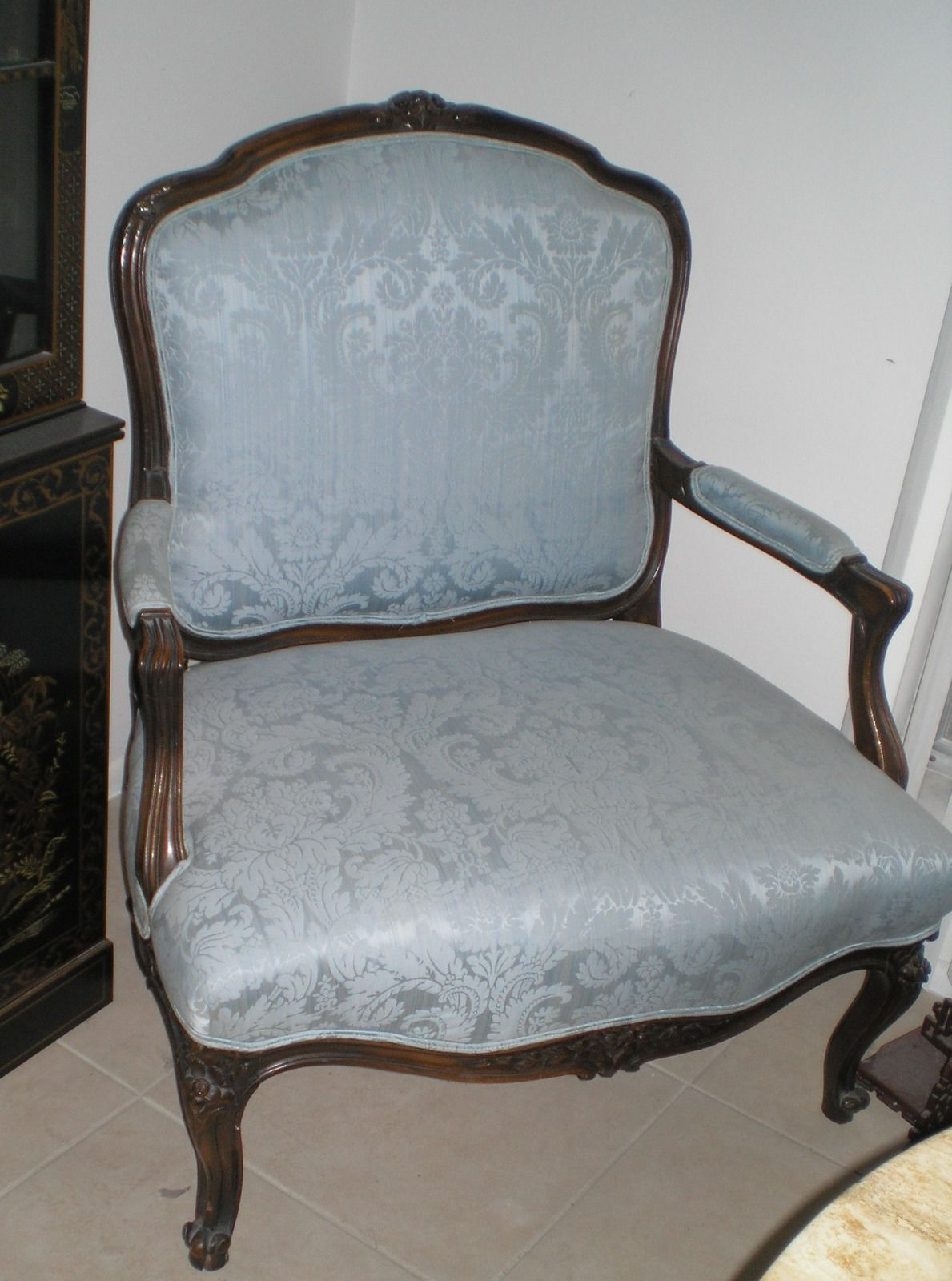 Gingham White And Blue Period Superior Materials Reproduction Chairs Confident 6 Beautiful Ancient Chairs French Lacquered