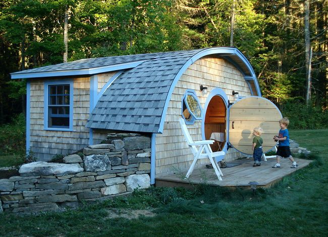 Hobbit Holes You Know For Kids A Company In Maine Will Build You A Real Hobbit House Small House Hobbit House Tiny House Design