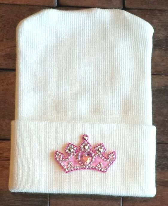 Princess Newborn Hospital Hat - Newborn Crown Hat - Princess Hat - Baby Hat - Princess Crown Baby Hat - Crown Hospital Hat - Queen Hat #queenshats