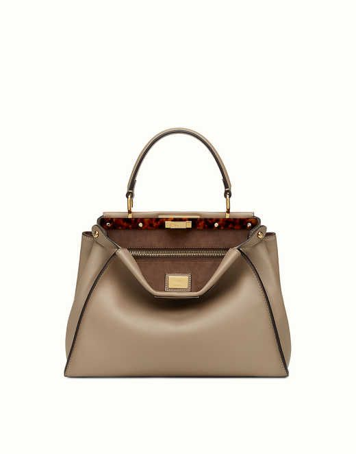 PEEKABOO REGULAR - dove gray leather handbag. Discover the new collections  on Fendi official website. Ref  8BN2903ZLF0E65 24c733d1f2b40