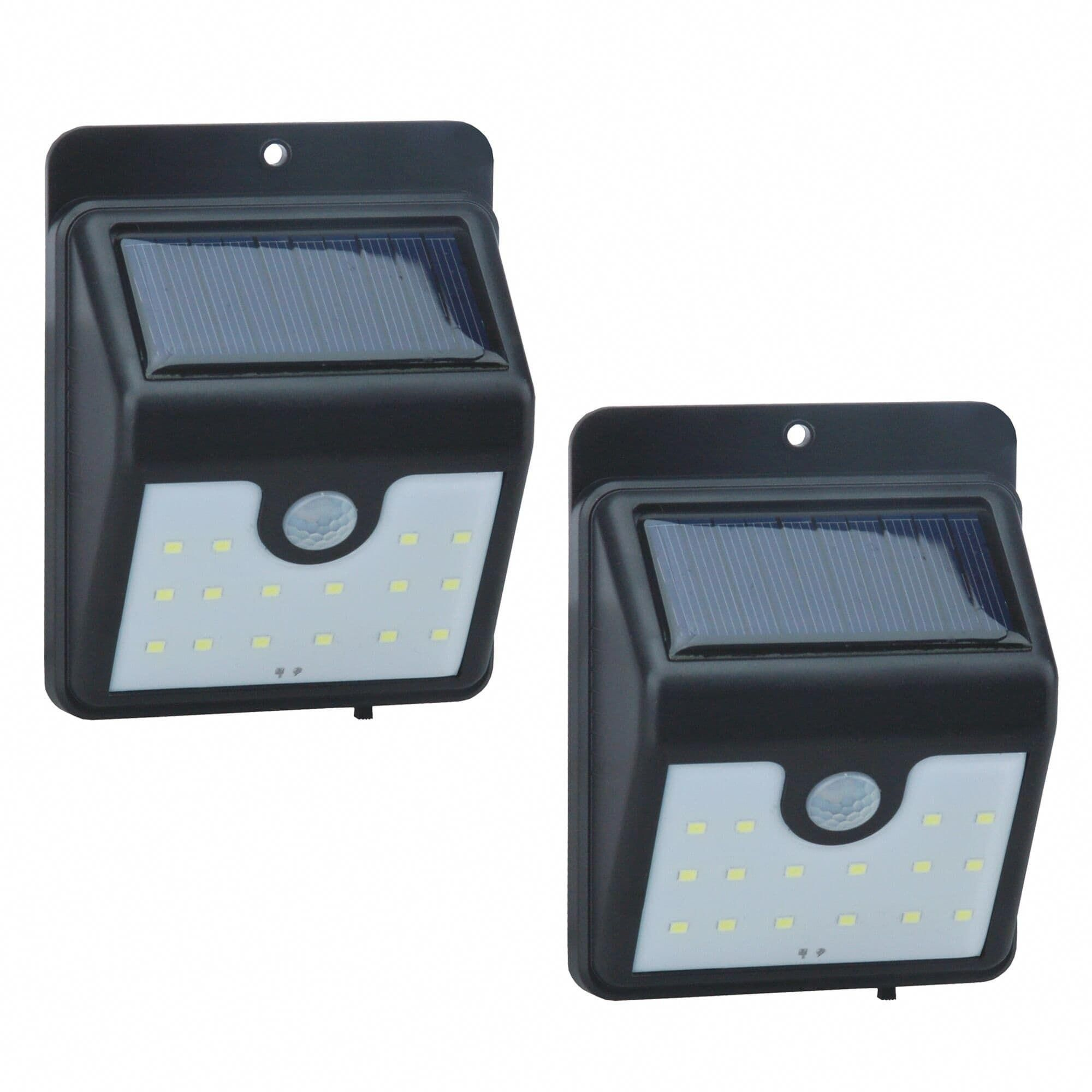 2 Pack 16 LED Solar Power Light Motion Sensor, multicolor