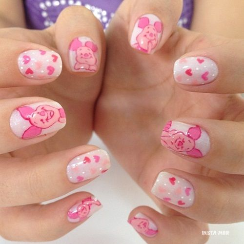 Pig Nail Art: Piglets, Pig Nails And
