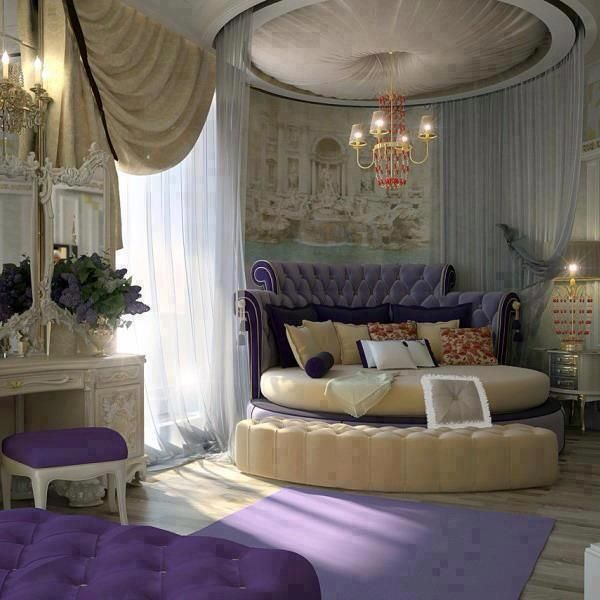 Luxury Purple Bedroom. Gorgeous room but perhaps in another Colour ...