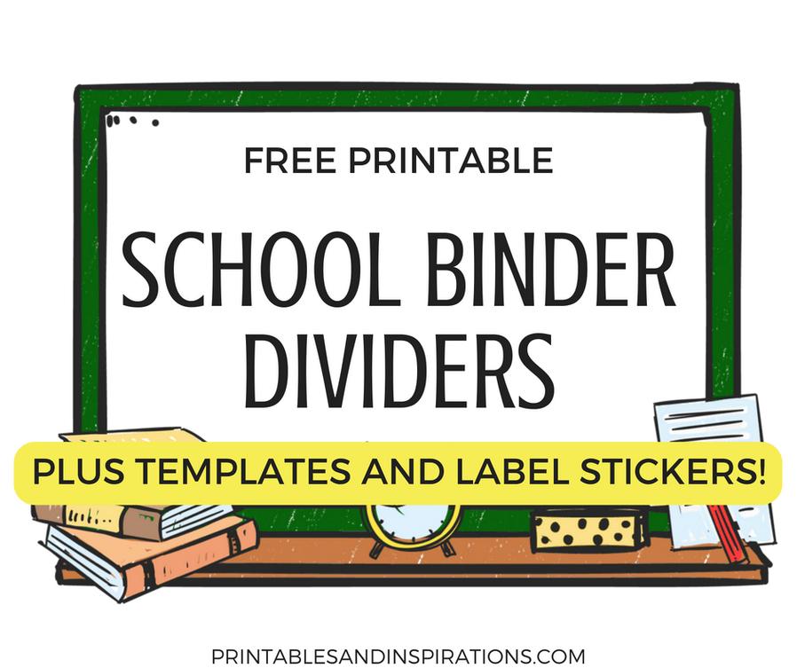 Cute School Binders, Student Planner