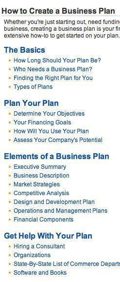 Startup Infographic : Business Plan Step-By-Step Planning
