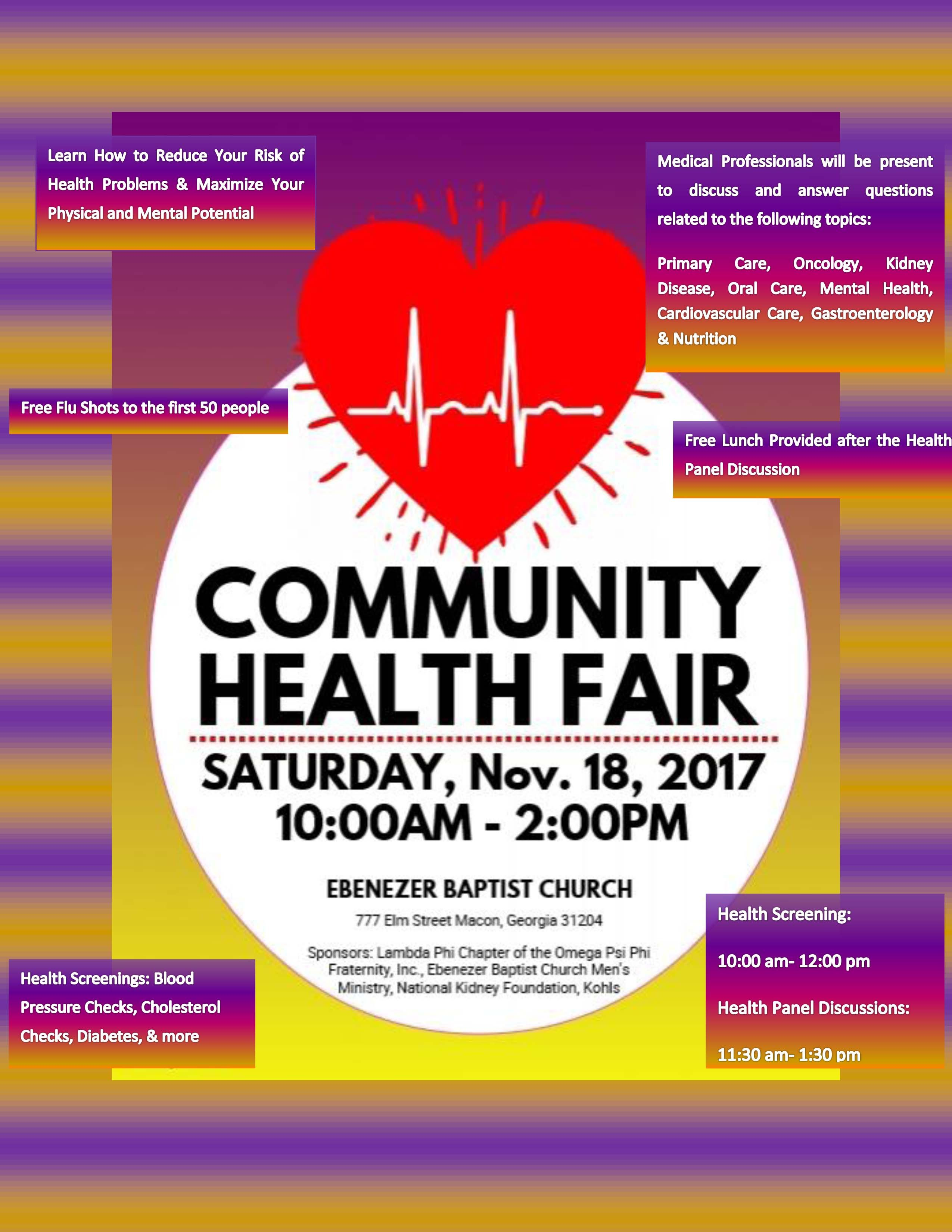 Community Health Fair The New Macon Black Pages Health