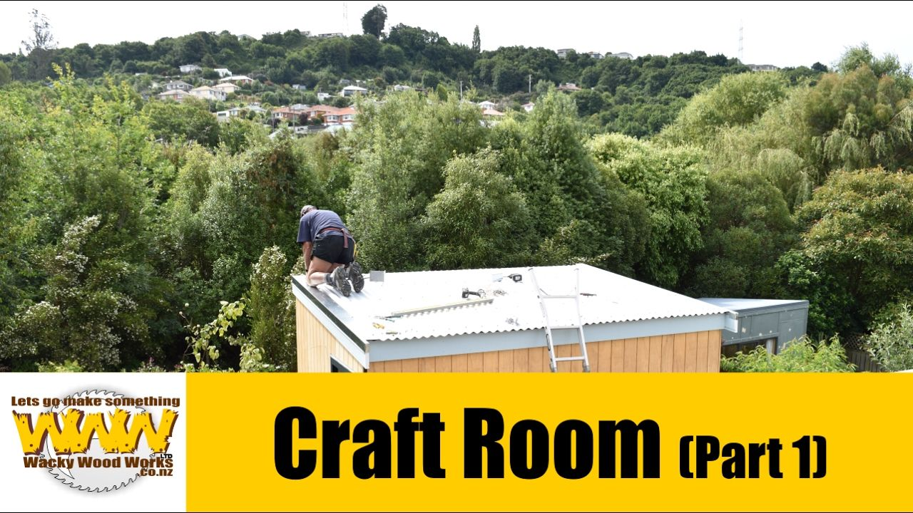 Craft Room Build - Part One - Wacky Wood Works.