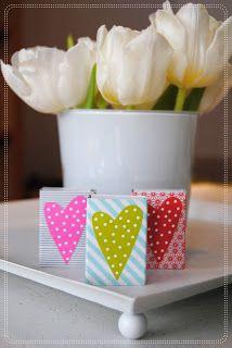 Valentine's, washi tape  kaksneljaseitteman.blogspot.fi