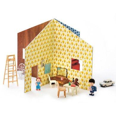 Dolls House Easy To Set Up And Take Down Just Slot The Walls Together Casa De Boneca Casa De Bonecas De Papelao Ideias Para Casa De Bonecas