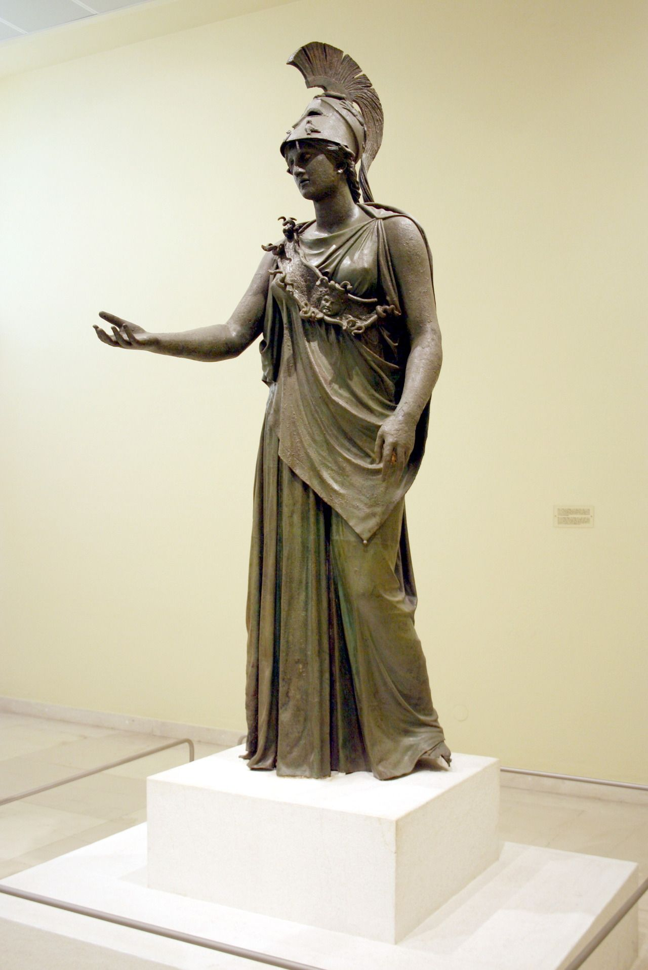 Bronze Statue Of The Goddess Athena Known As Athena Of Piraeus Dated To Late Classical Period Late 4th C Bce Ancient Art Ancient Greek Art Greek Sculpture