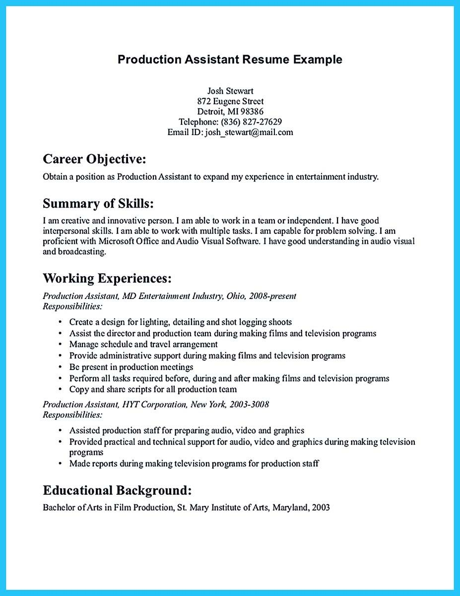 Resume Summary Examples For Assistant Manager