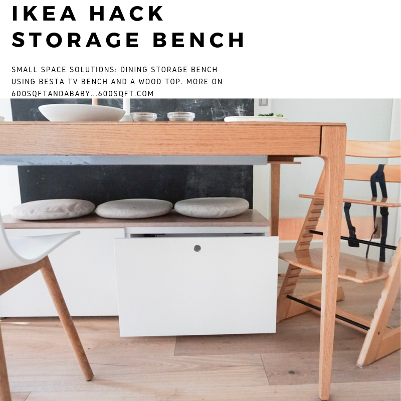 Ikea Hack Small Storage Bench For Our Dining Table Dining Bench