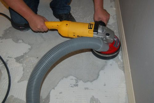 Smoothing And Removing Easy Dust Free Thinset Removal Tile
