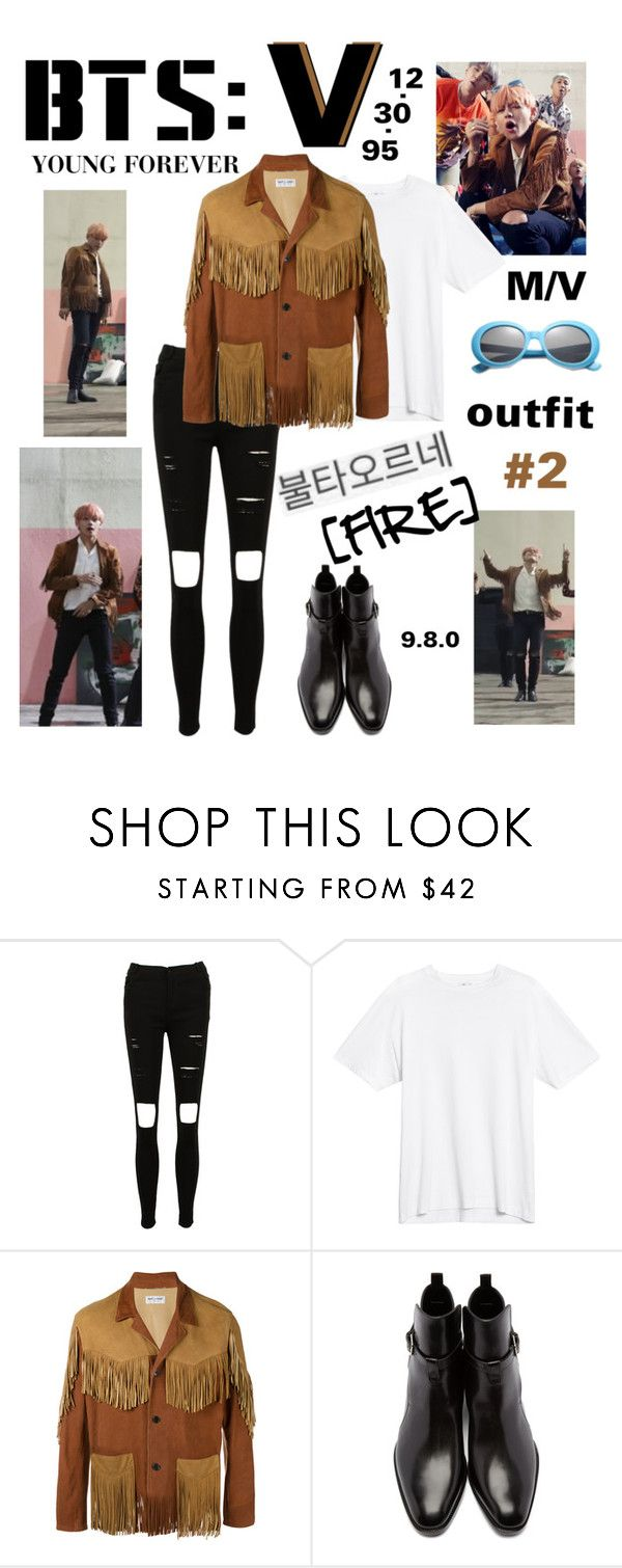"""BTS: V ""Fire"" Outfit #2"" by itzbrizo ❤ liked on Polyvore featuring Yves Saint Laurent"