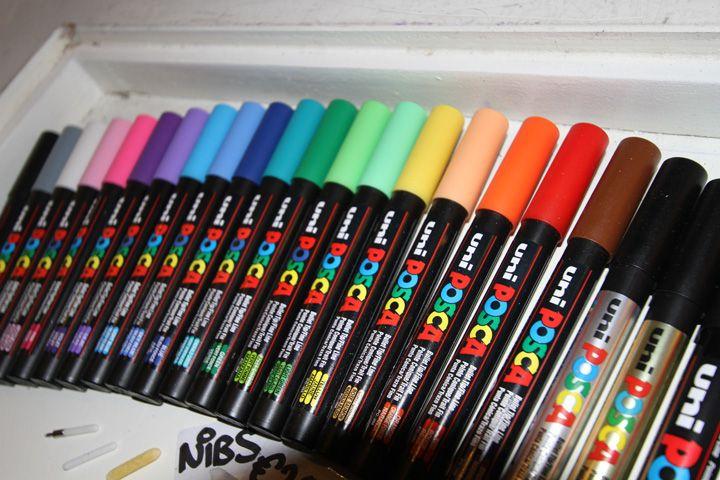 Uni Posca PC 3M Fine Bullet Markers 0.9-1.3 mm 27 Colours ** Cheapest On **
