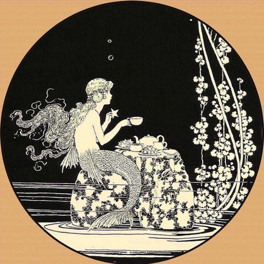Vintage Illustration Gallery On Instagram Lizziemontgomerydesign Ida Rentoul Outhwaite 1923 Mermaid Illustration Vintage Illustration Illustration