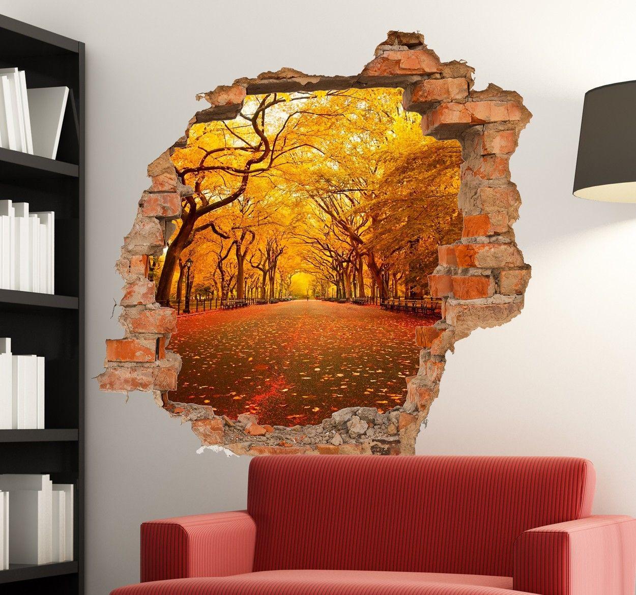 Brick Wall Hole Custom Sticker Dipinti, Idee, Parete