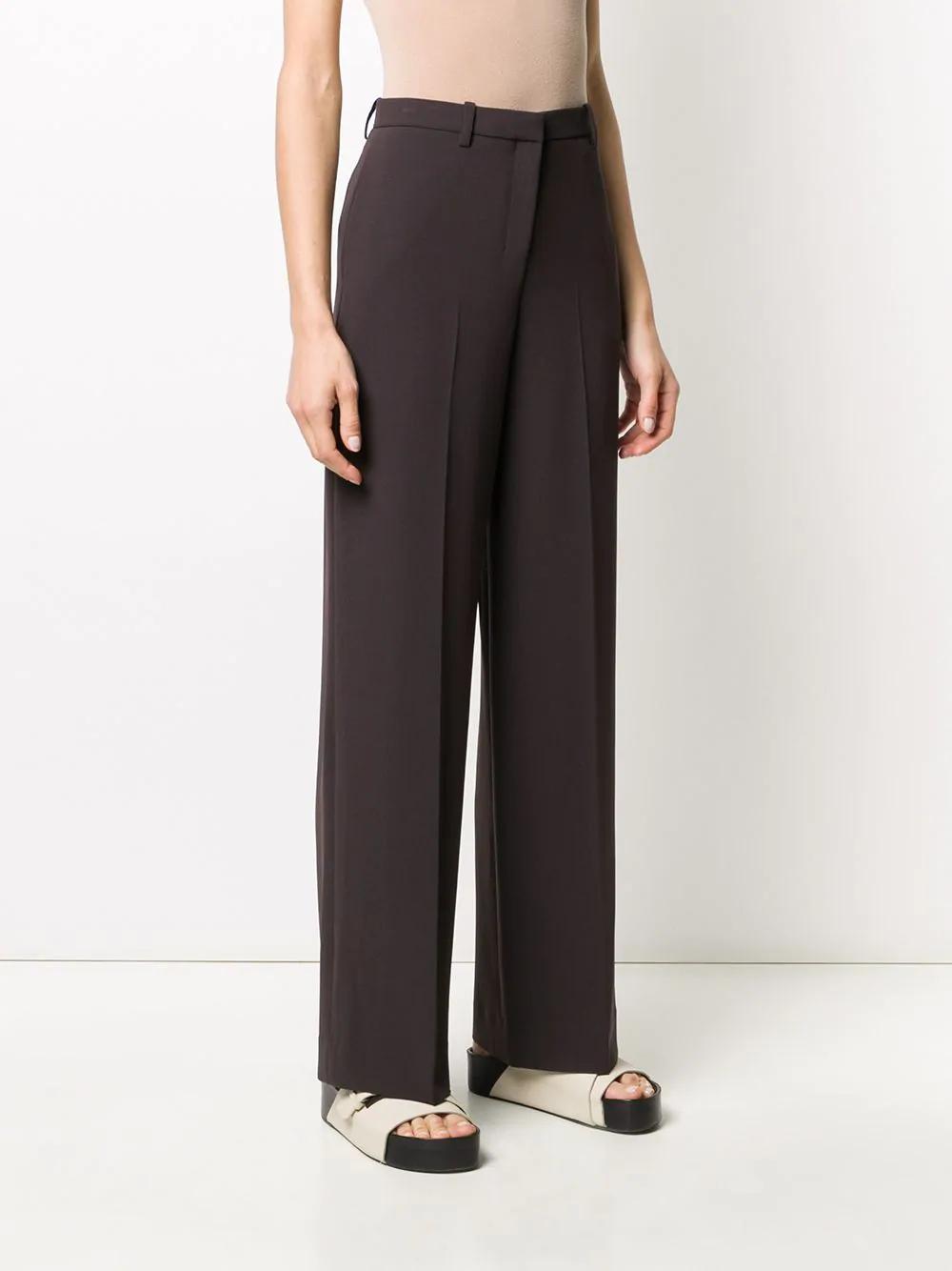 Theory Pantalones Rectos De Vestir Farfetch En 2020 Moda Pantalones Ropa