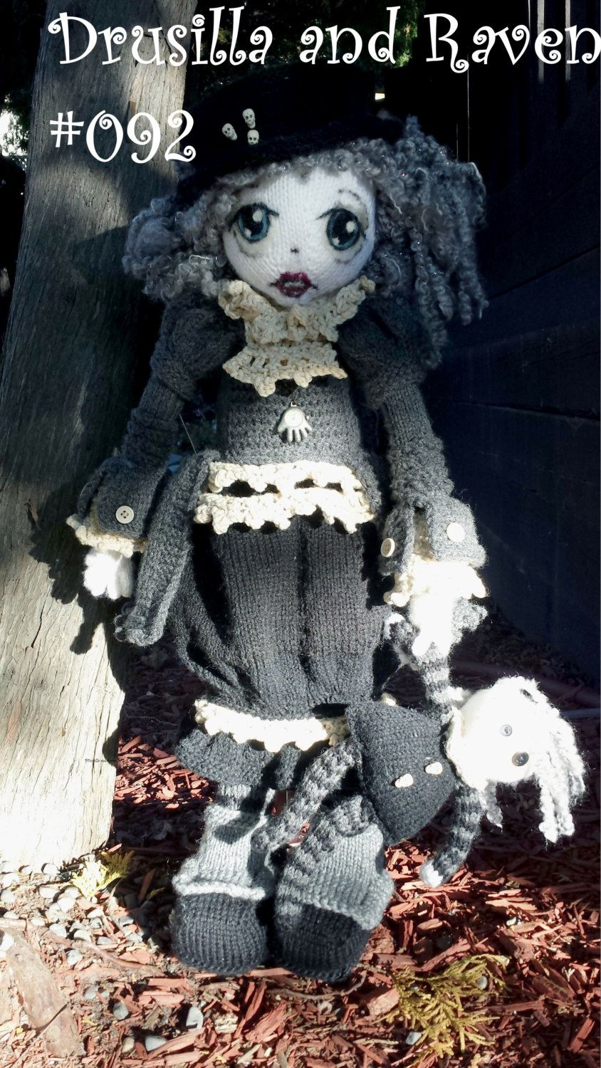 Pattern for Drusilla and Raven Raggedy Lottie ragdoll doll knitted ...
