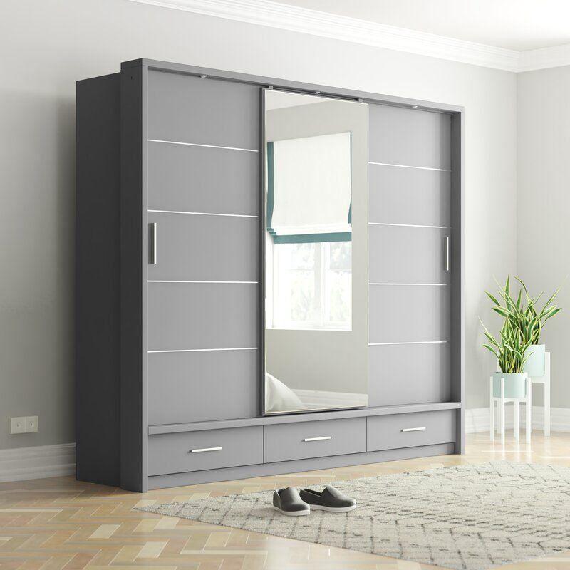 Tengan 3 Door Sliding Wardrobe 1000 In 2020 3 Door Sliding Wardrobe Sliding Wardrobe Wardrobe Design Bedroom