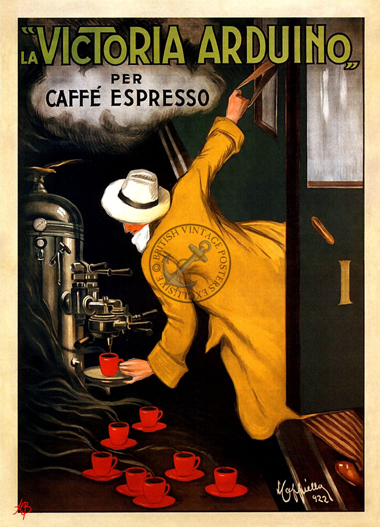 Coffee Lover Caffe Espresso Train French Vintage Poster | Vintage ...
