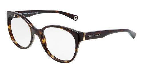 3d7f869740 Dolce   Gabbana Eyewear  model 3128 f - Women Ophthalmic Collection. Round  Glasses with Havana Frame in Plastic.