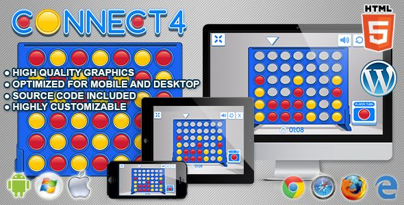 nice Connect four - HTML5 Logic Game (Games) | ThemeForest ...