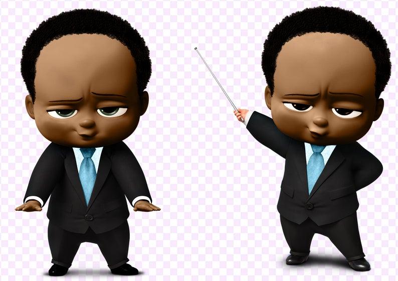 29 Boss Baby African American Boy Clipart 300 Dpi 29 Images Etsy Primeiro Aniversario Do Bebe Aniversario Do Bebe Primeiro Aniversario
