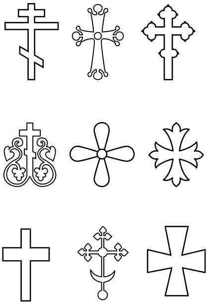 открытка в виде креста когда