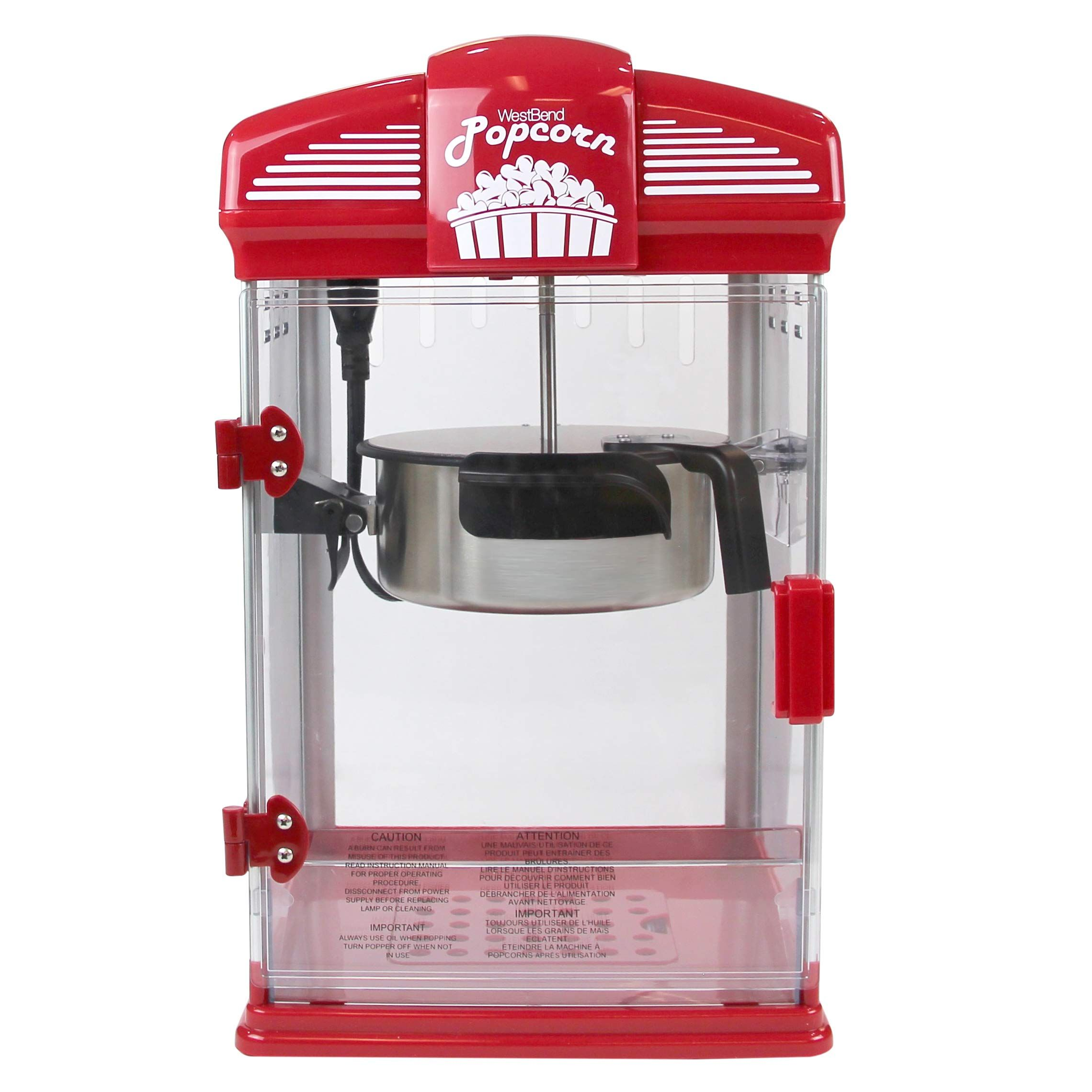 West Bend 82515 Hot Oil Theater Style Popcorn Popper Machine Offers Nonstick Kettle Fast And Durable With Easy Clean Up 4 In 2020 Popcorn Machine Popcorn Movie Theater