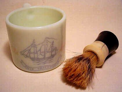 Old spice Shaving cup and brush - my dad had this.