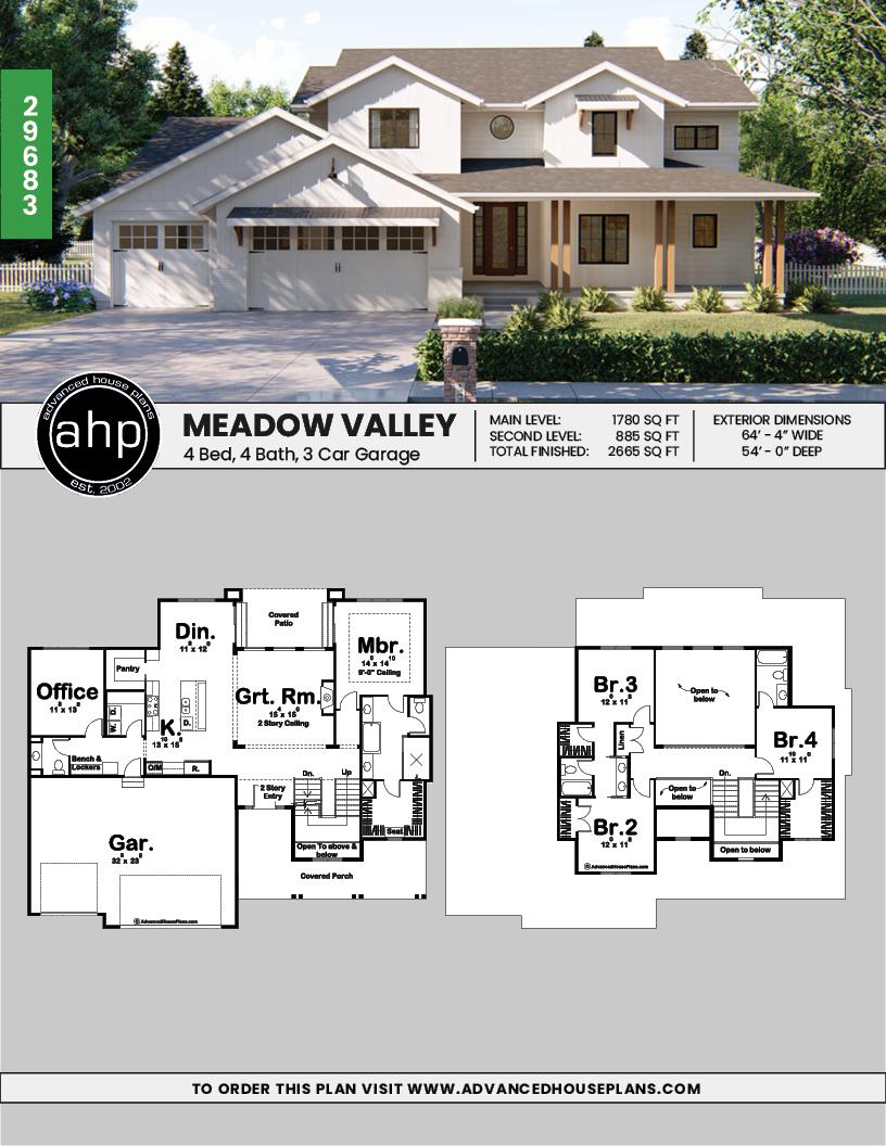1 5 Story Modern Farmhouse Plan