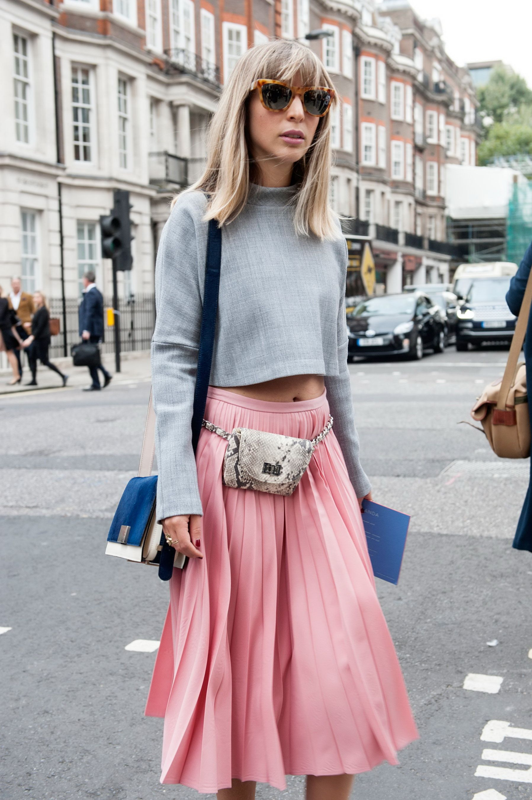 how to wear pleated skirts with a cashmere sweater outfit ideas ...