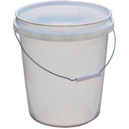Encore Plastics 5 Gallon Pail White Multicolor 5 Gallon Pail Plastic Buckets Bucket Gardening