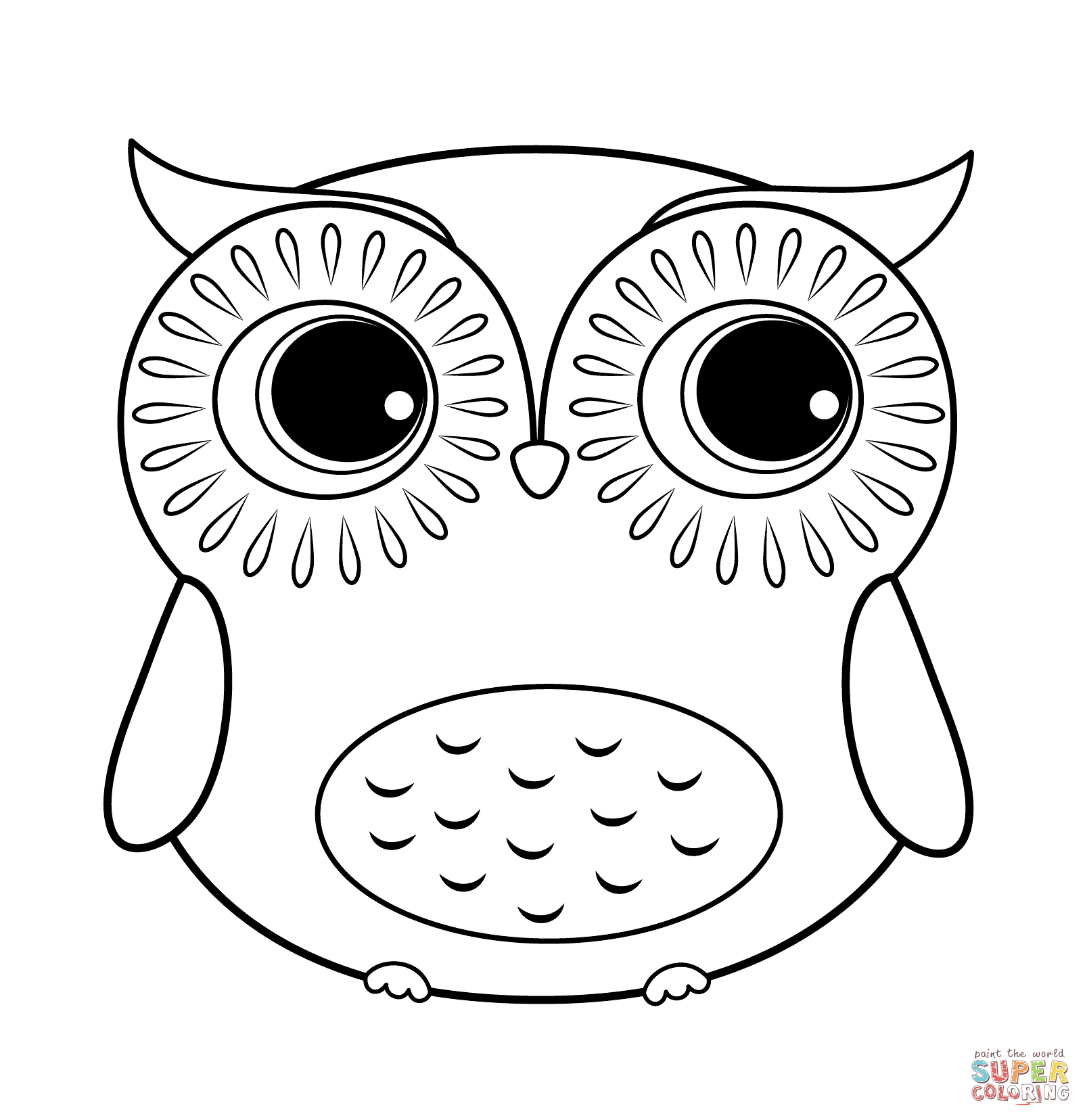 Pin By Alisa Johnson On Owls For Olalla Owl Coloring Pages Cartoon Coloring Pages Cute Easy Animal Drawings