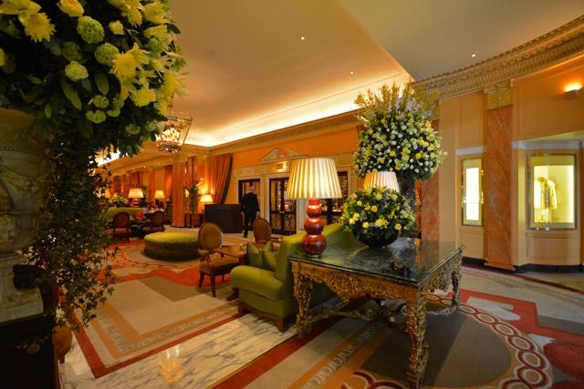 The stunning lobby of The Dorchester Hotel in London - luxury, elegance and comfort all wrapped into one amazing hotel. Visit our luxury travel website http://www.newjetsetters.com for details!
