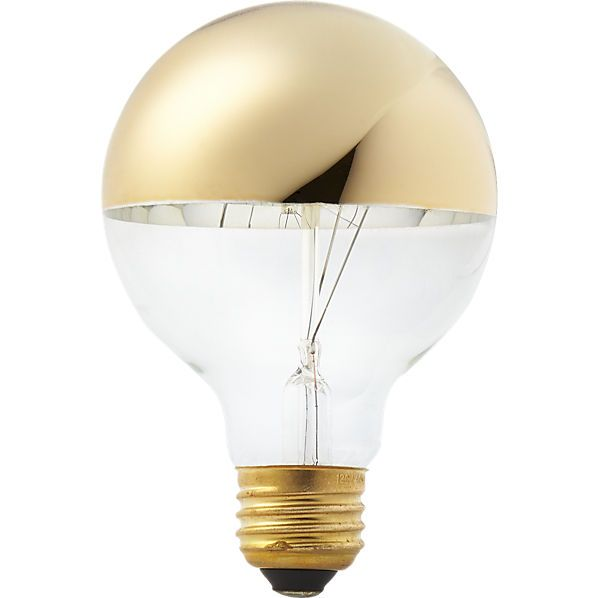 Cb2 G25 Gold Tipped 40W Light Bulb  Light Bulb Bulbs And Lights Alluring Kitchen Light Bulbs Decorating Design