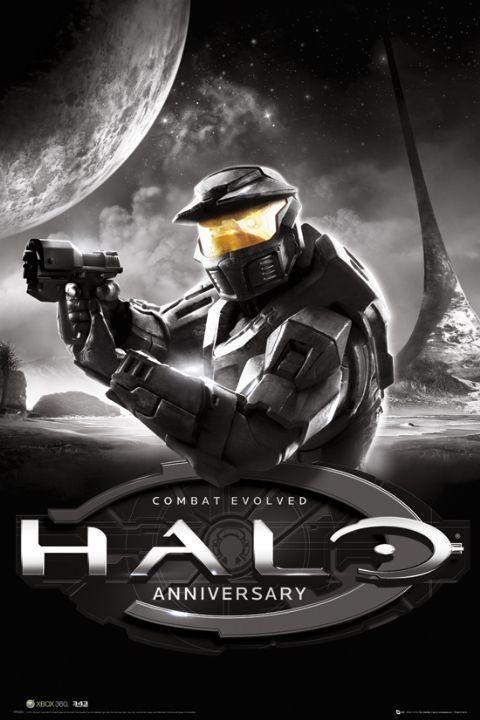 Google Kuvahaun Tulos Kohteessa Http Www Panicposters Com Media Catalog Product Cache 1 Image F63dc5ec28 Halo Combat Evolved Combat Evolved Anniversary Games