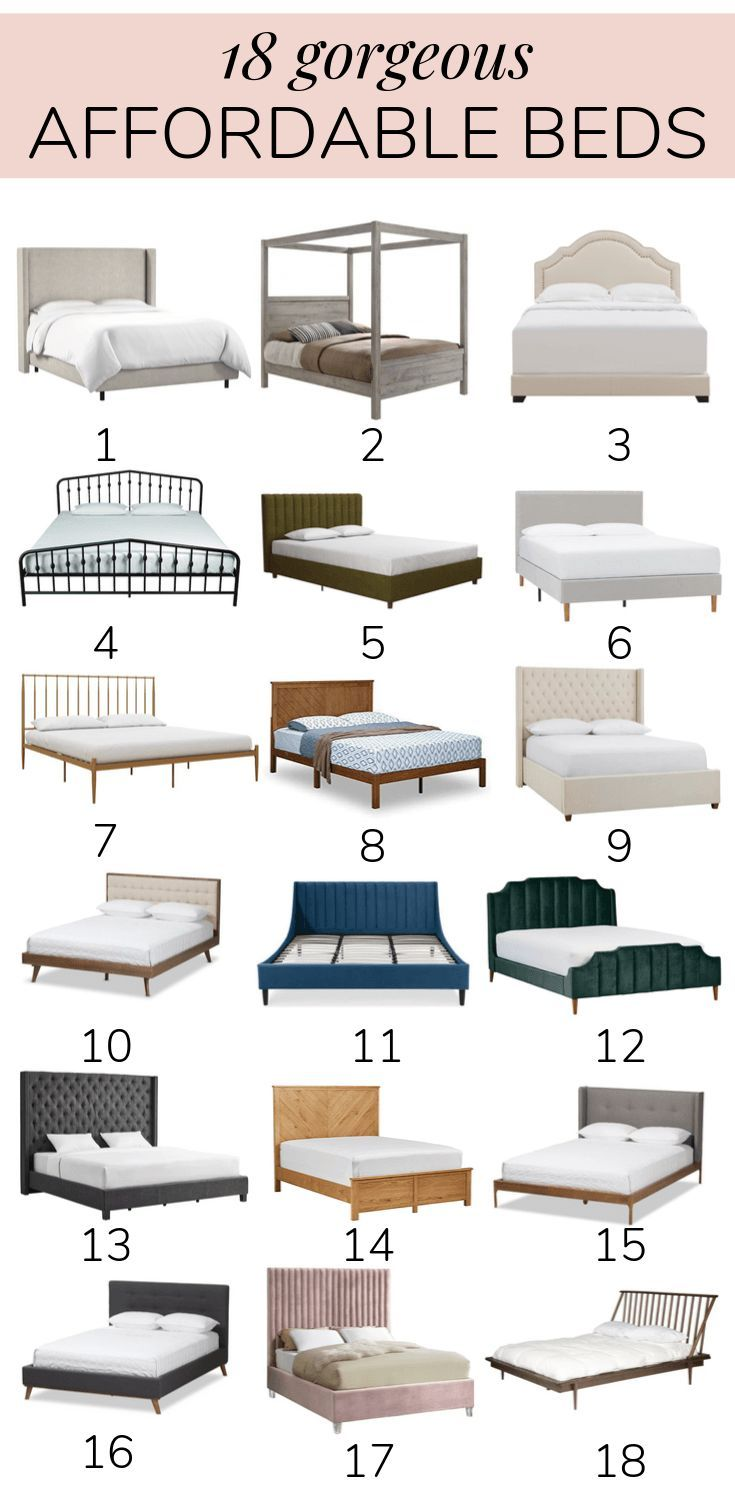 Best Beautiful Affordable Beds In Every Style If You Re 400 x 300