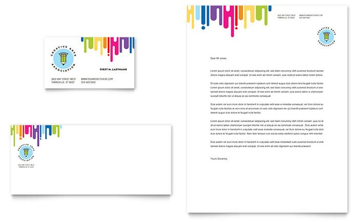 Kidu0027s Art Camp - Letterhead \ Business Card Sample Art Marketing - letterhead sample