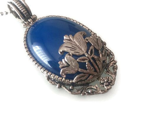 Lapis Pendant Saxe Blue Pendant Natural Stone by FIGENTAKI on Etsy