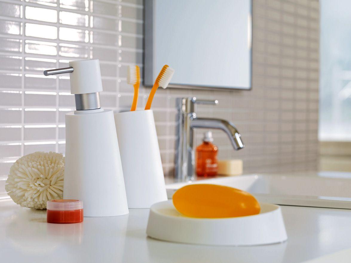 Spirella Move bathroom accessories in frosty white. #white #bathroom ...