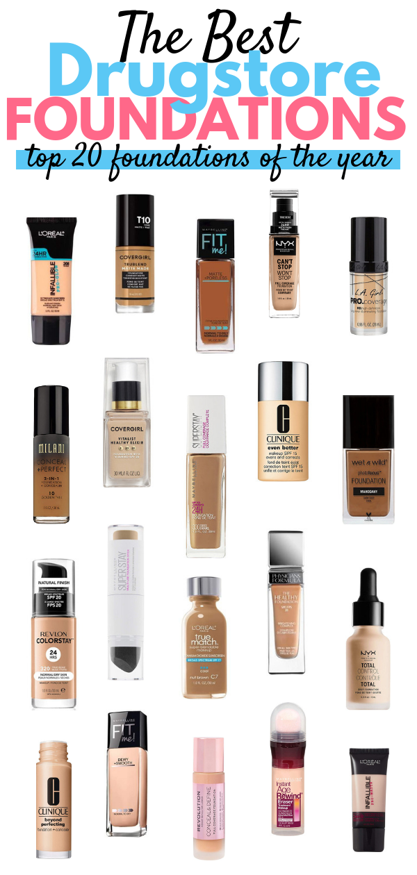 The Best Drugstore Foundations 2018 Best drugstore
