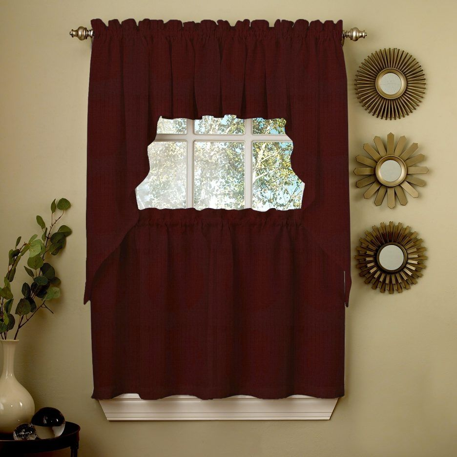 Wine colored kitchen curtains latulufofeed pinterest