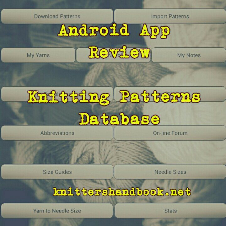 Android app review - knitting patterns database pro | My Crochet ...